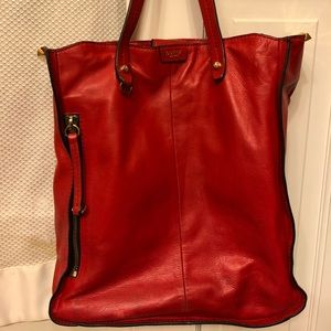 Stunning red leather Botkier tote